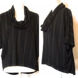 Mossimo pullover top, Sz med, hi lo, black